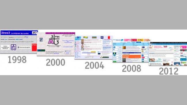 Evolución del diseño de 3tres3