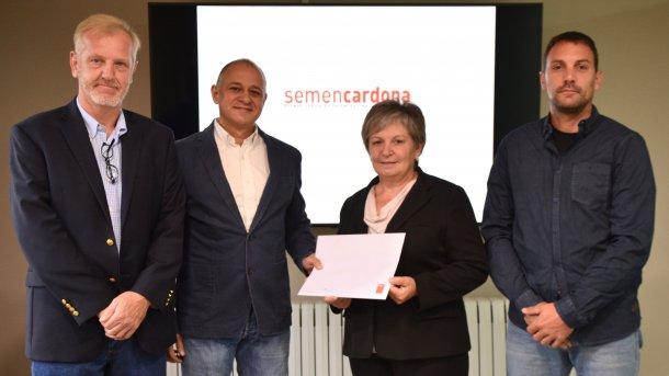 Assinatura do acordo entre Sémen Cardona e a PIC