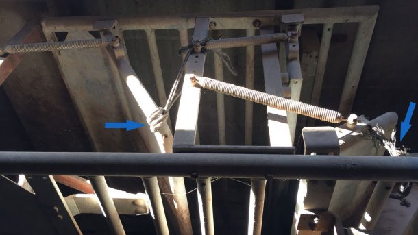 Foto 3. No início do treino deixam-se as portas sólidas ligeiramente entreabertas.