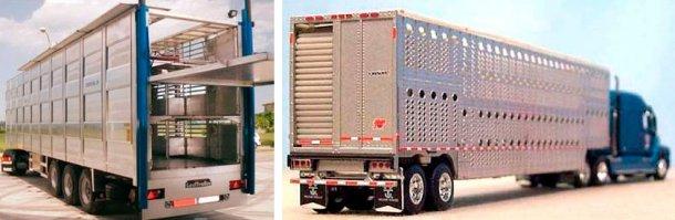 Imagem 3. Camião usado na Europa. Fonte: NEWNION e, Imagem 4. Camião usado na América do Norte. Fonte: Illinois Truck Enforcement Association