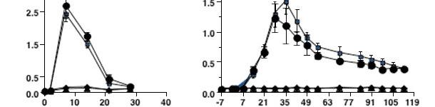 Cinética de la respuesta de anticuerpos frente a una infección por PRRSV tipo 2
